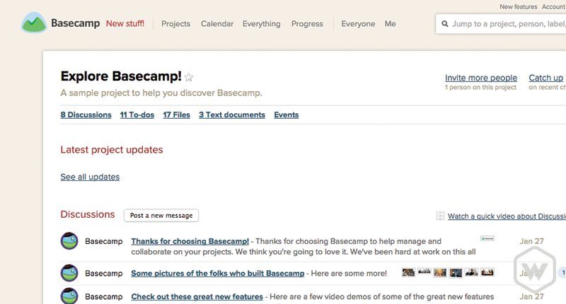 basecamp interface