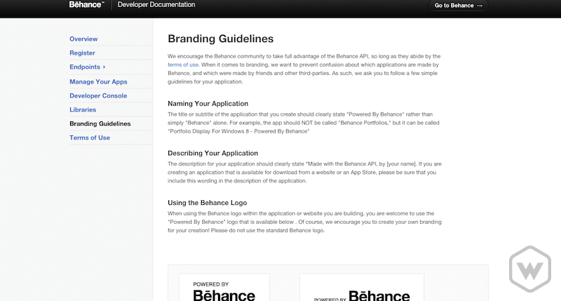 Behance brand guidelines