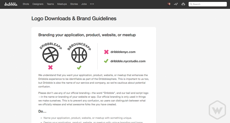 Dribbble Brand Guidelines