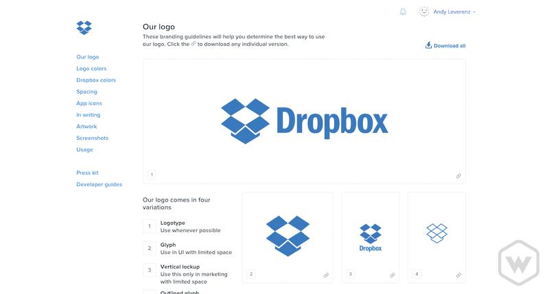 Dropbox branding guidelines