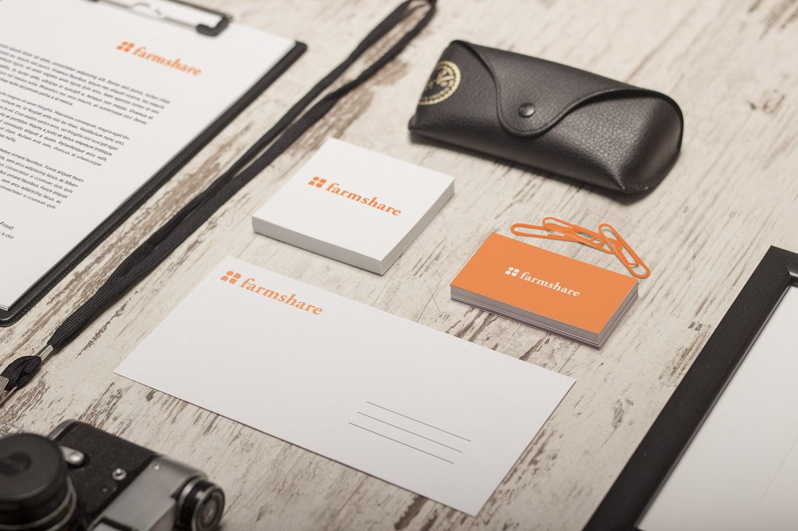 Farmshare branding/stationary package