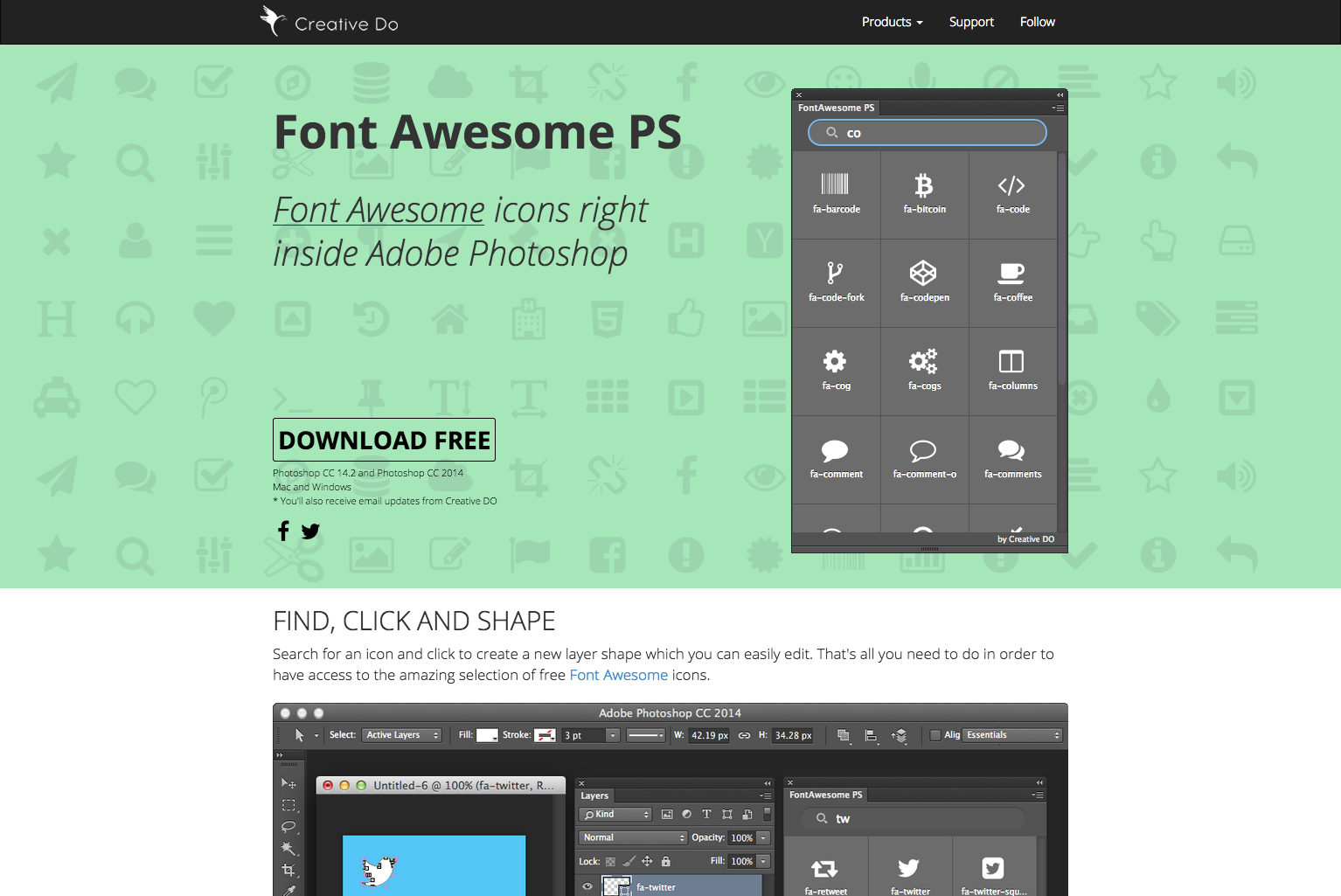 font-awesome-ps | web-crunch.com