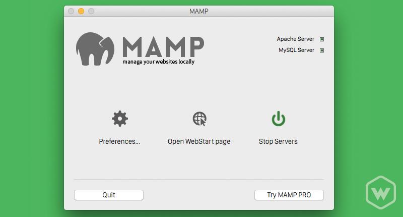 MAMP server up and running