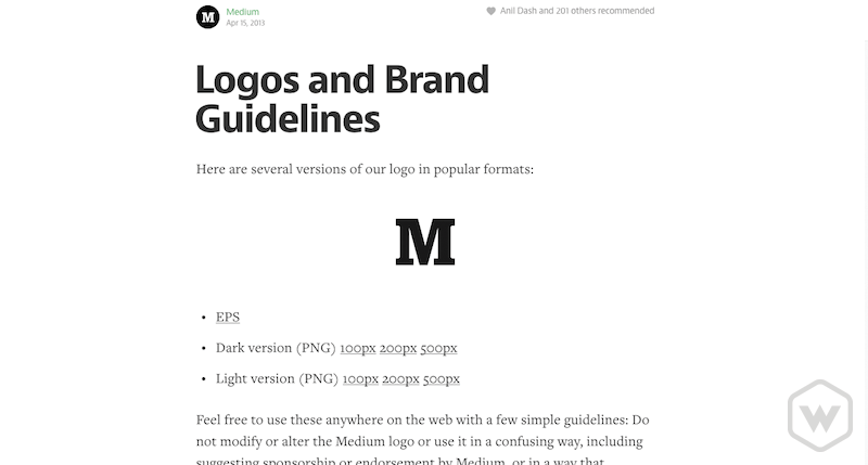 medium logos and brand guidelines