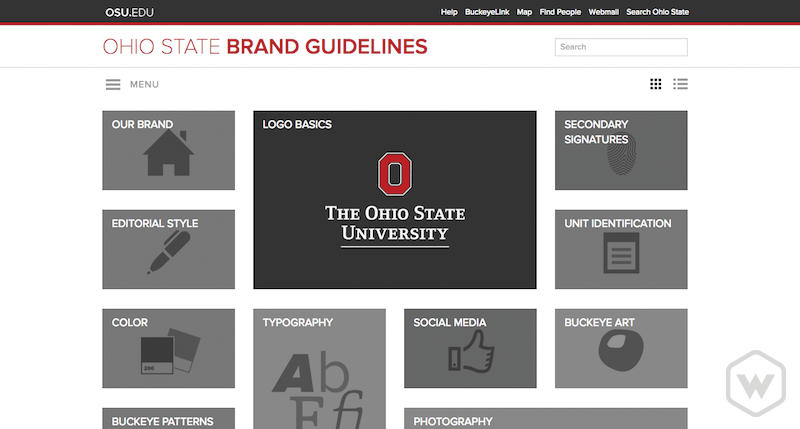 Ohio state university brand guideliens