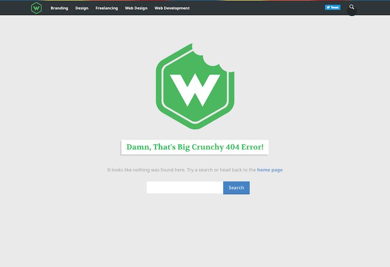 screenshot of an older version of web-crunch.com 404 page