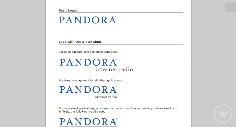 Pandora Internet Radio Branding