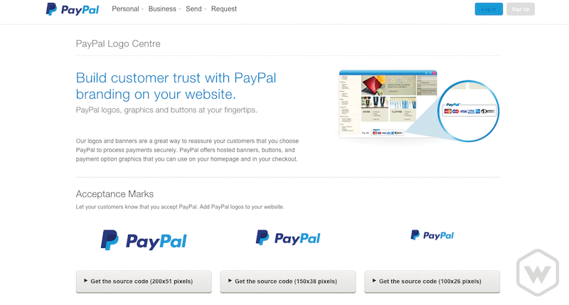 PayPal Logo Centre