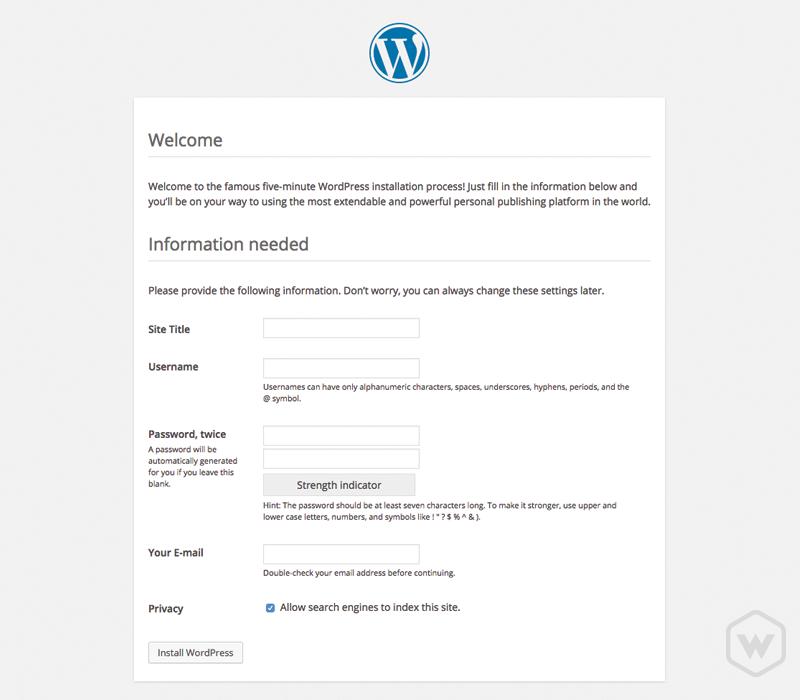 Site information form