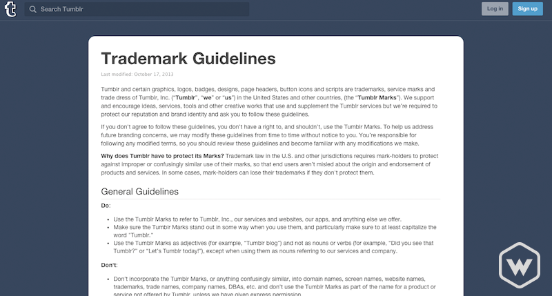 tumblr trademark guidelines