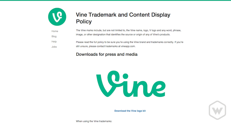 vine trademark and content display policy