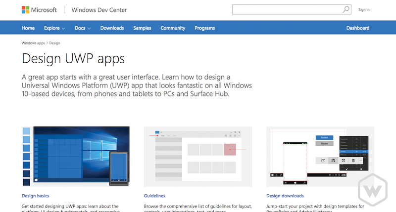 Windows App Design